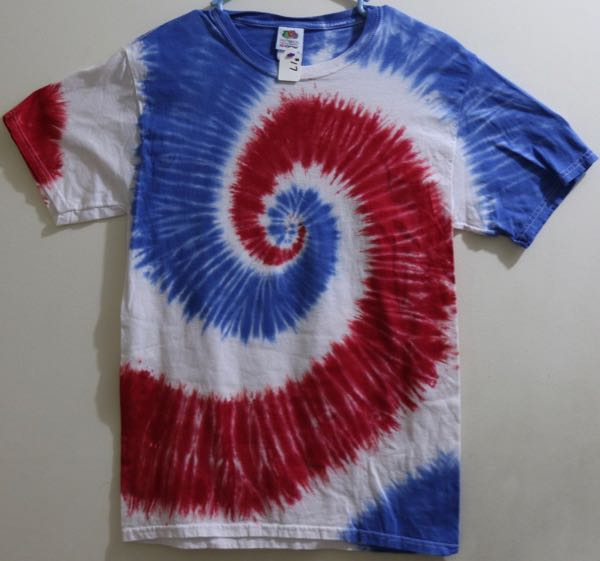 Picture of Red,White, Blue Spiral pattern